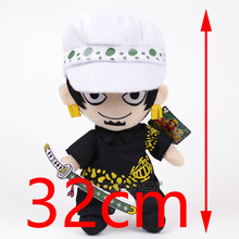 One Piece Trafalgar Law Anime Cartoon Plush Toy Soft Stuffed Doll Gift 32cm