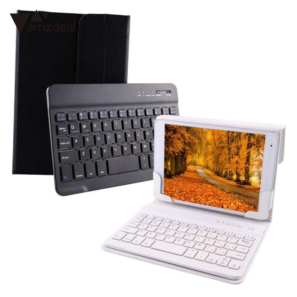2 Color Smart PU Leather Bluetooth 3.0 Keyboard Stand Case For 7