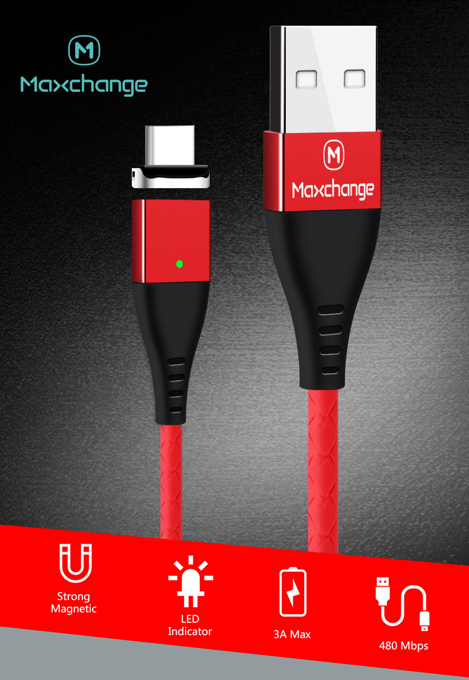 Magnetic Micro USB Cable 2.4A Fast Charge USB Data Cable For Samsung Xiaomi LG Tablet Android Mobile Phone USB Charging Cables