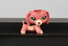Lovely Pet Collection LPS Figure Toy Chocolate Brown Dachshund Dog 3601 Nice Gift Kids