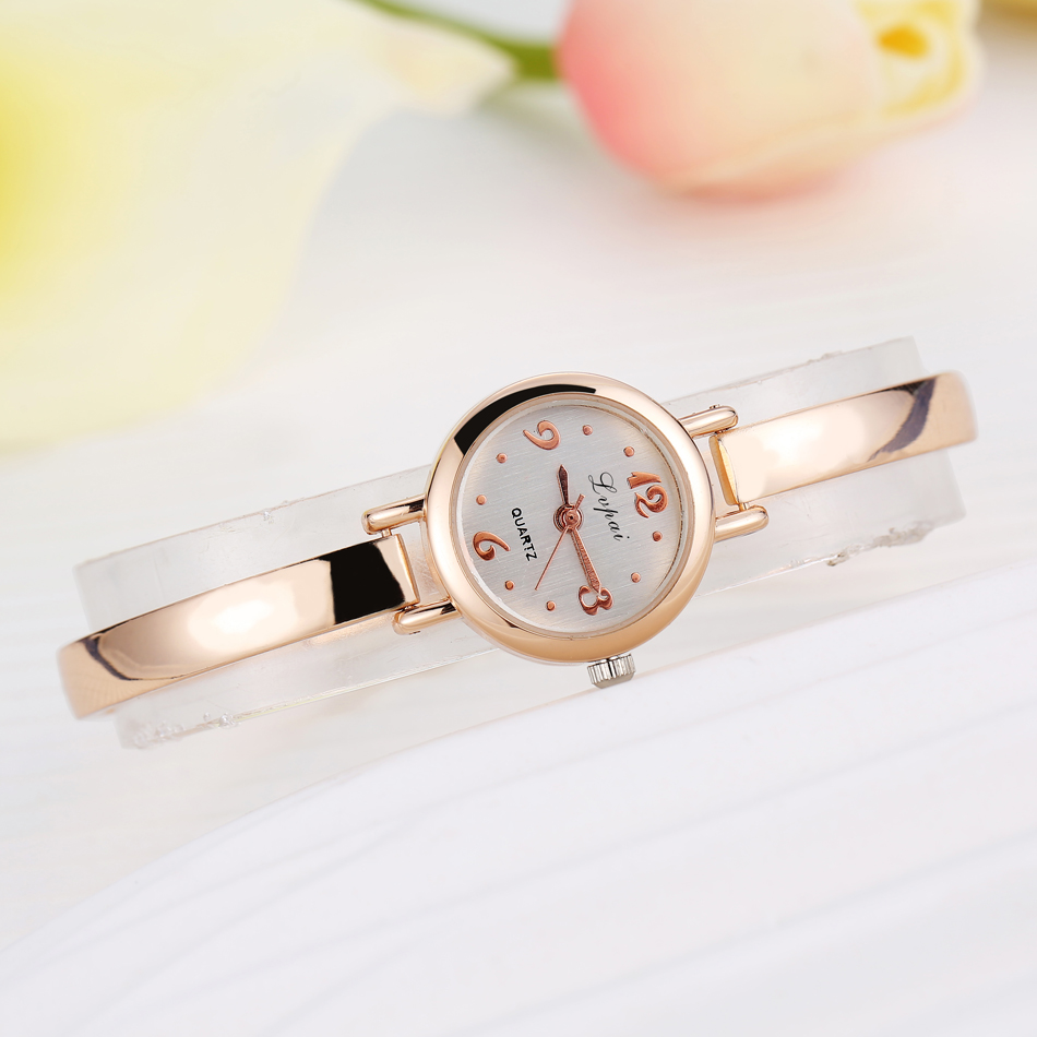 Lvpai Bracelet Watch Quartz Women Dress Crystal Classic Gold Top-Brand Ladies Fashion