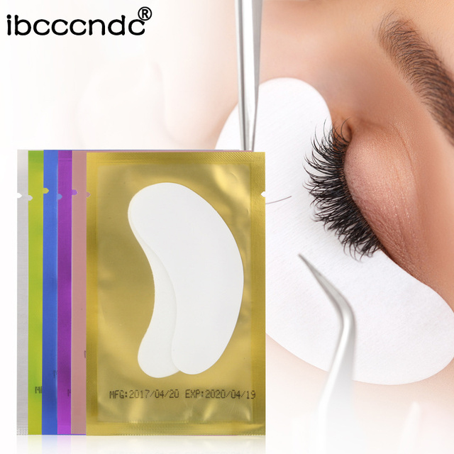 Pro 20 pairs Eyelash Extension Paper Patches Grafted Eye Stickers Eyelash Under...