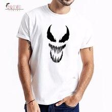 2QIMU Summer 2019 VENOM Cartoon Pattern T-Shirt Mens Classic Colors Cotton Tees Fashion Short Sleeve Casual O-Neck