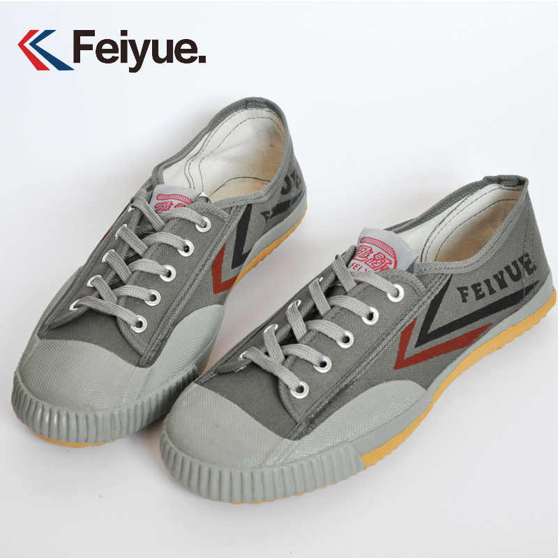 Gray Classic Kung Fu Shoes Feiyue Sneakers Tai Chi Kungfu Slipper Men Martial Art Taekwondo Shoes Men Chinese Kung Fu Shoe Women