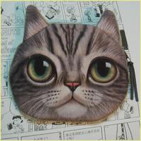 ISKYBOB 3D Cute Cat Face Printing Zipper Coin Purse Women Cartoon Cat Children Coin Wallet Ladies Makeup Storage Bag Coin Purses & Holders
