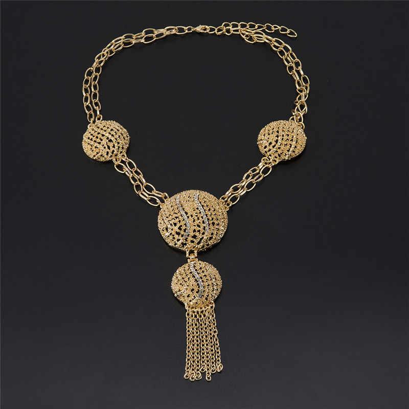 MUKUN großhandel Afrikanische Perlen kristall schmuck set Mode hochzeit von frauen Dubai schmuck sets Gold-farbe halskette Ohrringe Set