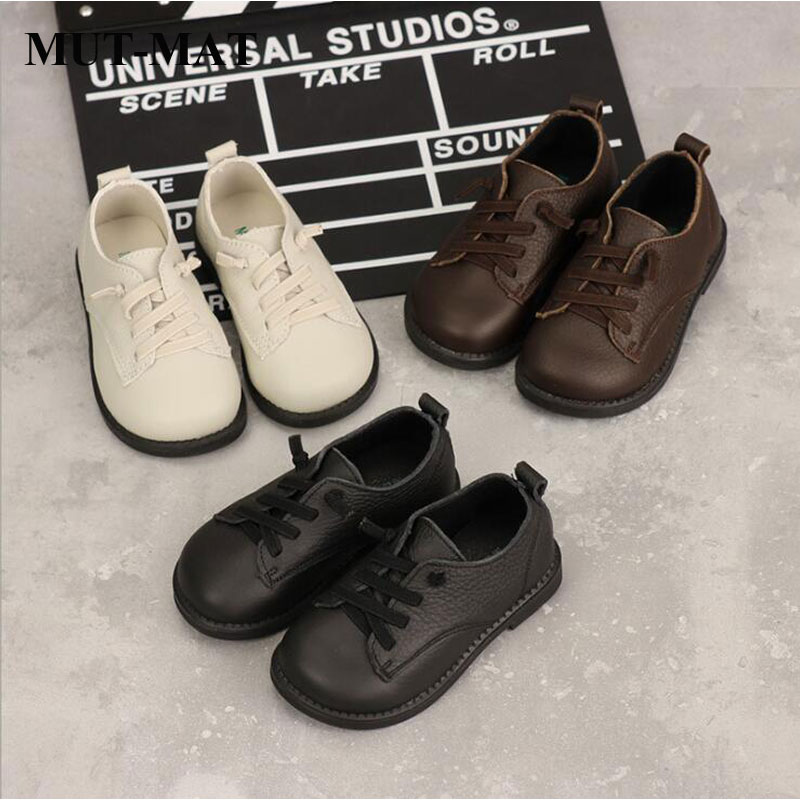 children genuine leather shoes boy's fashion lace up shoes Soft bottom leisure style shoes girl's princess shoes