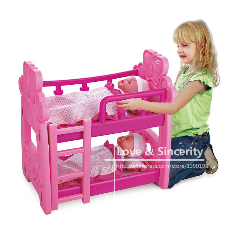 Bunk Bed Fit For 43cm Zapf Dolls  Reborn Baby  Accessories шапка crabgrab bunk bed beanie black grey