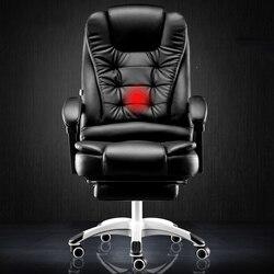 Computer di casa ufficio reclinabile massaggio capo ascensore turn resto del piede sedia sedile swive offerta speciale di Trasporto libero