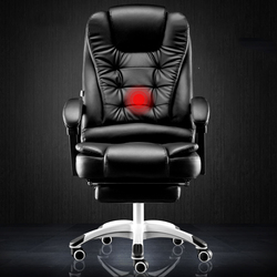 Ordenador en casa Oficina masaje reclinable jefe elevador girar pie reposa silla swive oferta Especial envío gratis