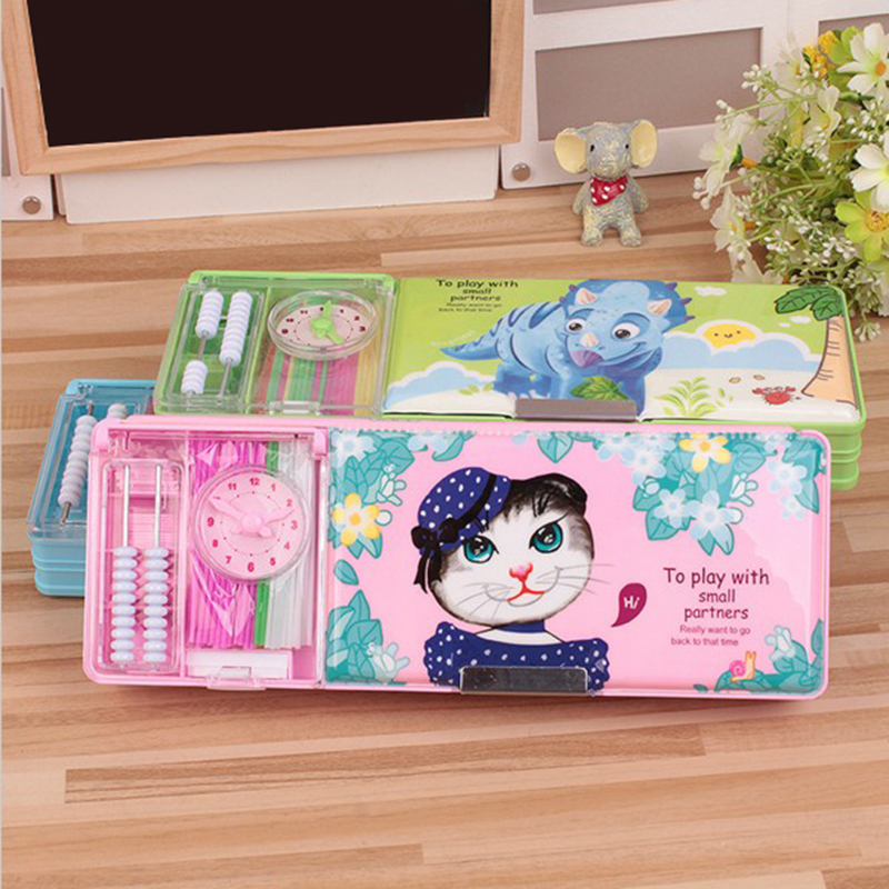 цена на factory direct sale suit with fine plastic pencil cases of low grade students in the wholesale stationery box 25*9*3.5cm 300g