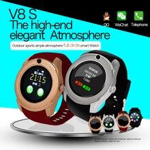 V8 bluetooth3.0 s mart w atchนาฬิกาโทรศัพท์มือถือhdหน้าจอสัมผัสสามารถรองรับซิมการ์ดsmart watch