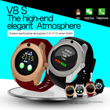 V8 Bluetooth3.0 Smartwatch Mobile phone watch HD Touch screen Can support SIM card Smart Watch