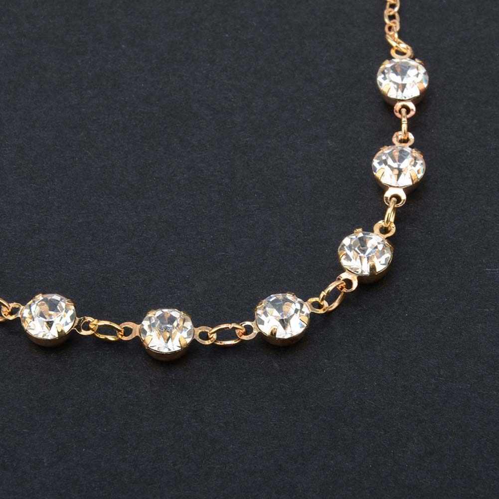 Vintage Moda Bilezik Ayak JewelryCrystal Halhal Kadınlar Için Paslanmaz Çelik Ayakkabı Çizme Zinciri