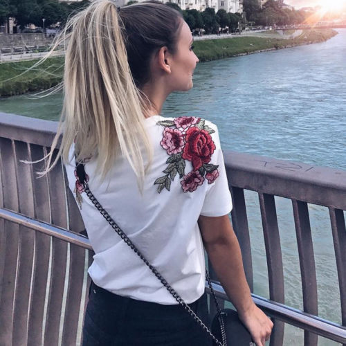Floral Women Clothing Tops...