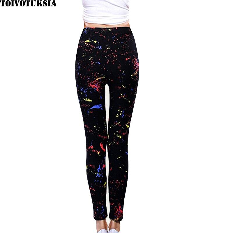 TOIVOTUKSIA Women Sexy Legging Newest Lacina Pants Multi Colors Black Milk Good Spandex Printed Summer Style Legging