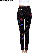 Plus Size Leggings Newest 2015 Lacina Pants Multi Colors Black Milk Good Spandex Printed Legging