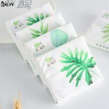 BXLYY 60 насосная/мешок мультфильм растение печати бумага портативный одноразовые бумажные полотенца День рождения Свадебные украшения Kitchen.7z