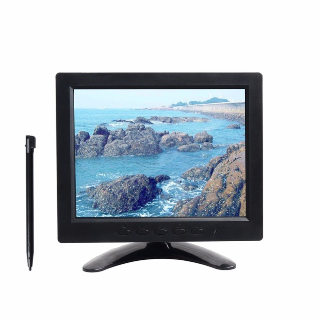 8 inch touch screen tft led monitor security surveillance monitor