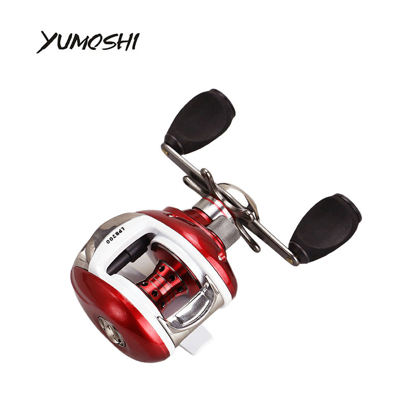 2017 YUMOSHI NEW Right or Left Baitcasting Reel 12+1BB 6.3:1 Bait Casting Fishing Reel Magnetic brake