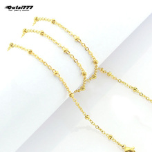 wholesale stainless steel bead gold chain choker necklace gifts for women girl female necklaces bohemian friend fashion jewelry