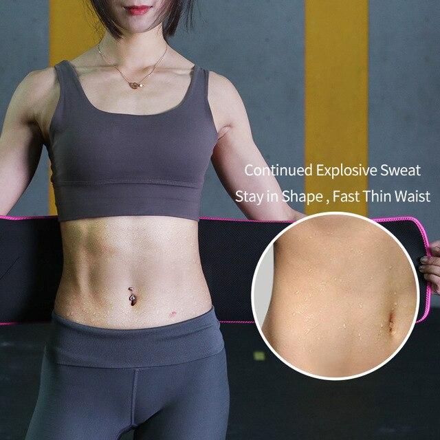 TMT Gym Waist Trimmer Support Belt Fitness Waist Trainer With Phone for Pocket Shaper Slim Weight Loss Sweat Band Lumbar Brace 3