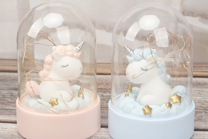 Cartoon LED Night Light Luminaria Garland Fairy String Lights Novelty Unicorn Night Lamp Bedside Lamp For Kids Christmas New Year Gift (4)