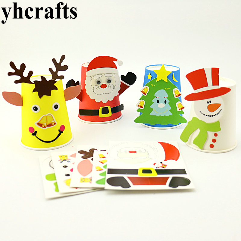 Capable 8pcs/lot,4 Design Diy Christmas Hats,create Your Own,early Educational Toys.model Building Kits.kingergarten Crafts Wholesale Model Building Kits