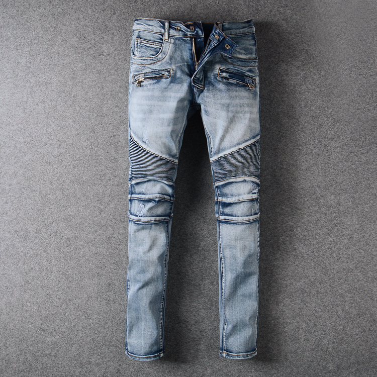 0d0ee9092 High Quality Stretch Distressed Jeans Male Famous Brand Men Acid Washed  Ripped Jeans For Men Italian Motorcycle Biker Jeans Men