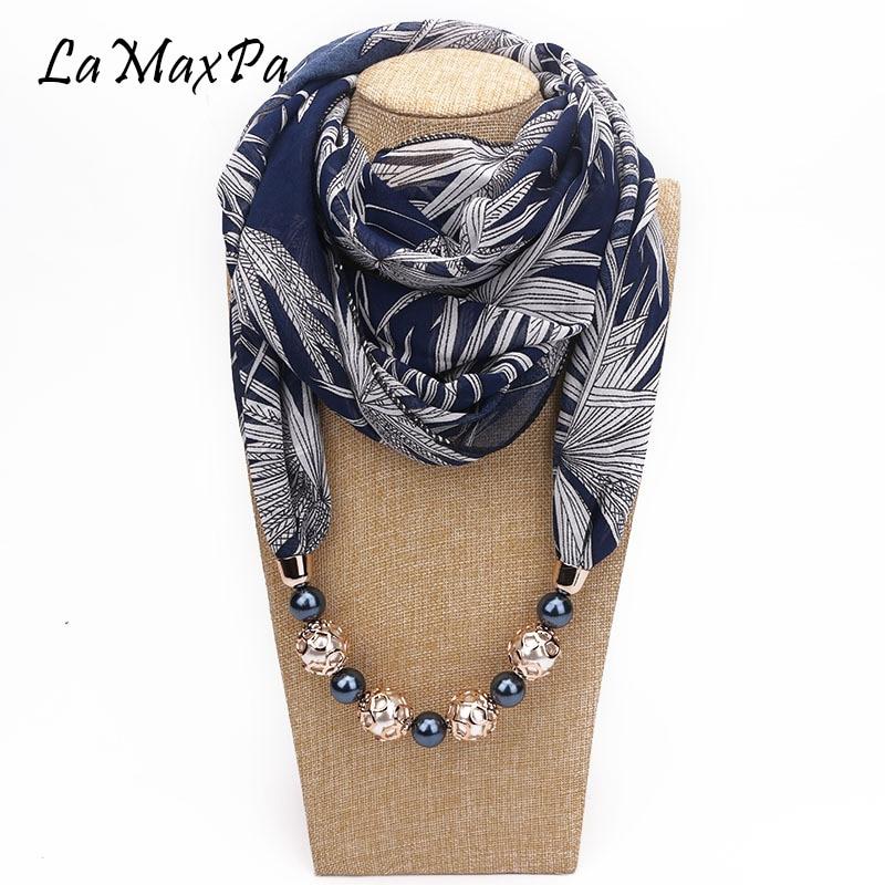 LaMaxPa New Fashion Women Pendant Scarf Ring Scarf Female Favorite Noble Pendant Jewelry Scarf Mujer Bufanda Femme Pendant Schal