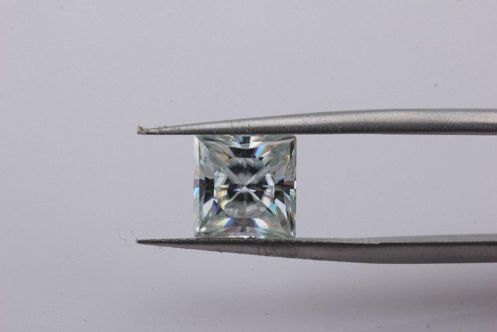 Драгоценные камни Cheestar свободные моиссаниты камень квадратной формы 8*8 мм светло голубой Принцесса cut 3ct моиссаниты драгоценные камни брилл