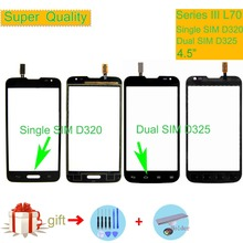For LG Series III L70 Single SIM D320 Dual SIM D325 Touch Screen Touch Panel Sensor Digitizer Front Glass Outer Lens Touchscreen