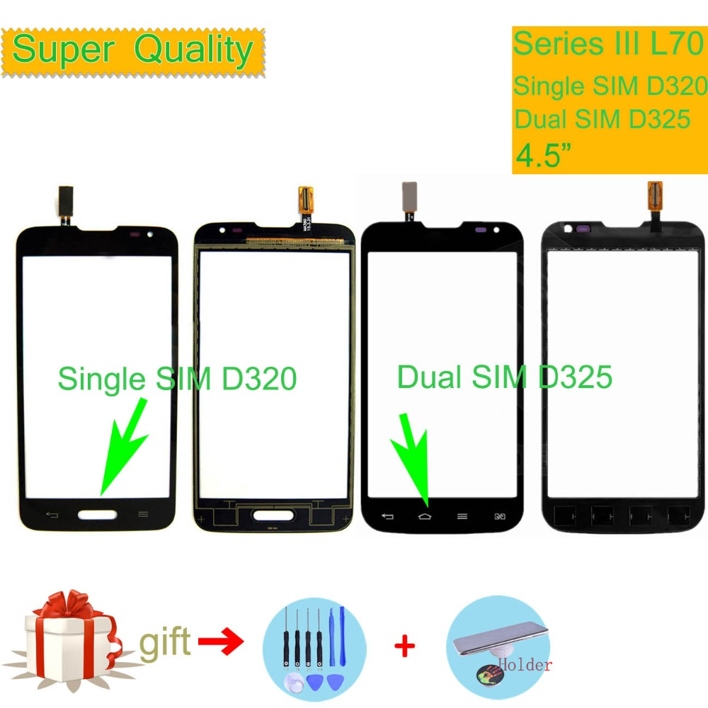 """New Front Outer Touch Screen Digitizer with Tools For HOMTOM HT7 Pro 5.5/"""" Black"""
