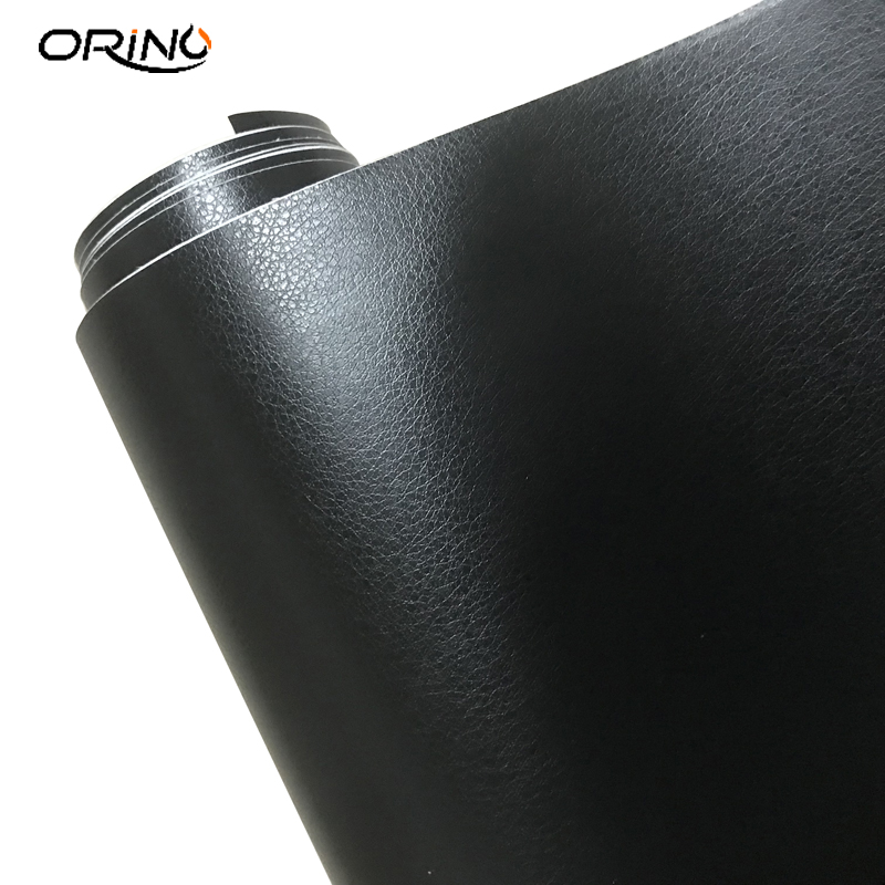 Image 2 - Black Leather Grain Texture Vinyl Car Wrap Sticker Decal Film Sheet Adhesive Sticker Interior Car Styling Covering Wrapping-in Car Stickers from Automobiles & Motorcycles