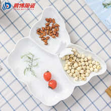 2017 Newest Nordic Creative Butterfly Style White Ceramic Flatware Hotel Dish Ocean Fruit Salad Dinnerware Dishes Party Plates