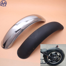 1pcs Motorcycle Retro Rear Motorcycle Chrome/Black Metal Fender Mudguard for Vintage Harley BOB
