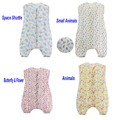 Cotton Muslin Thinner Double Layers Summer Infant Sleepsacks Length 70-100cm Baby Sleeping Bag