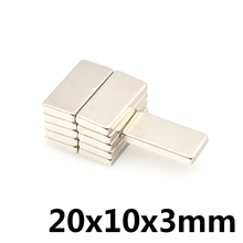 5pcs Super Strong Small 20*10*3mm Neodymium Magnets Rare Earth Powerful Magnet 20 x 10 x 3 mm  N35 цена 2017