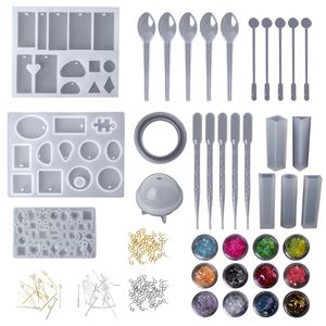 Image 2 - 1 Set Epoxy Resin Kit Jewelry Casting Tools DIY Handmade Crafts Gifts Necklace Bangle Making Findings Silicone Mold Spoon