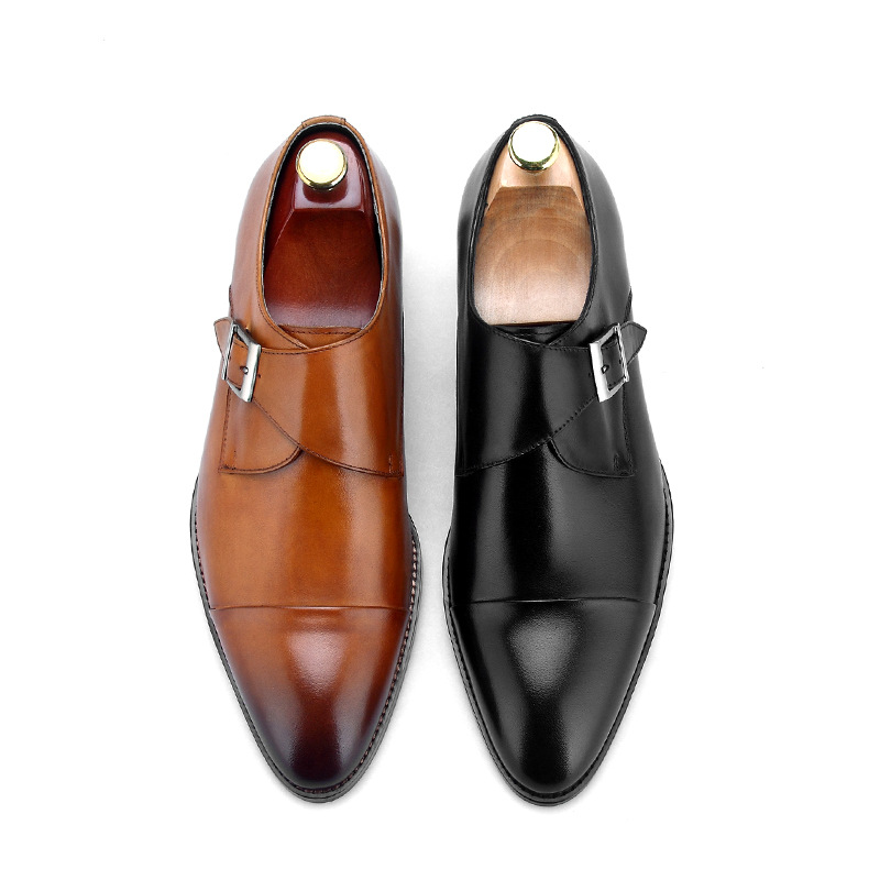 QYFCIOUFU 2019 Handmade Oxford Shoes Men Wedding Party Fashion Brand Formal Shoes Genuine Leather Monk Strap Men 39 s Dress Shoes in Formal Shoes from Shoes
