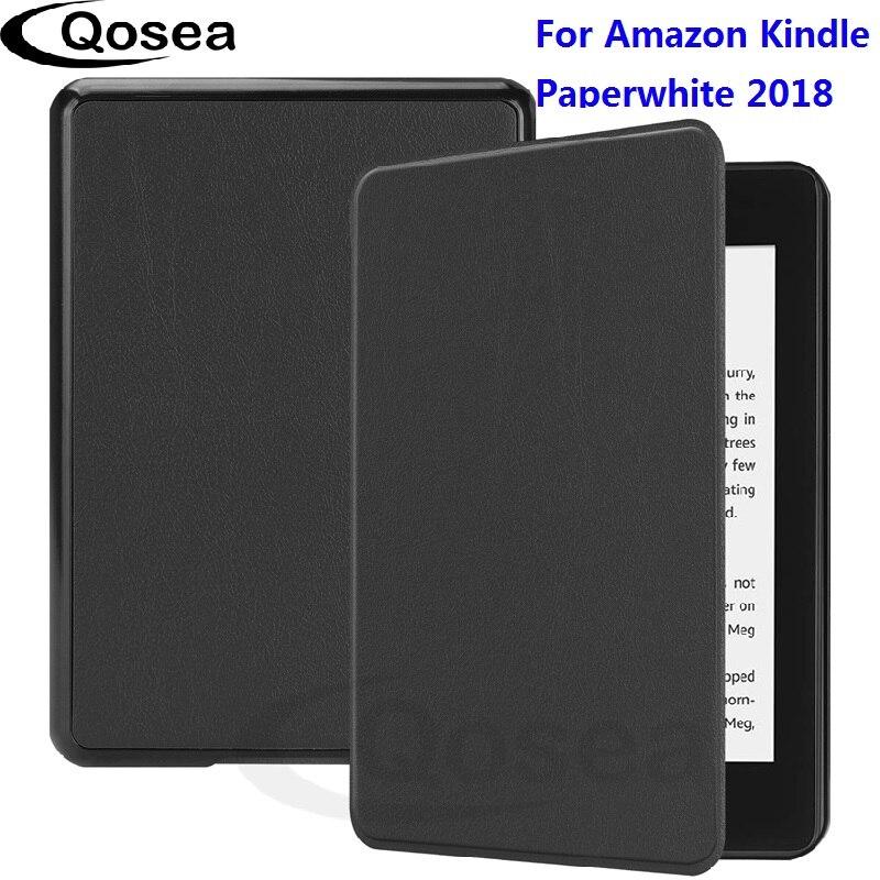 Qosea Nouvelle Magnétique étui intelligent Pour Amazon Kindle Paperwhite 2018 Étui En Cuir Pour Kindle Paperwhite Protecteur Couverture de Stand