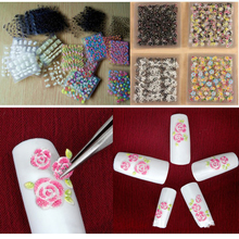 New Arrive 50pcs/set 3D Flower Nail Stickers Self-adhesive Mix Color Cheap Nails Art Decorations Decal Tools DIY