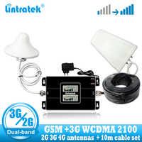 Lintratek russie GSM 900/2100mhz celulaire Bual bande cellule téléphone intelligent Signal Booster WCDMA 3G GSM répéteur de Signal 3G amplificateur
