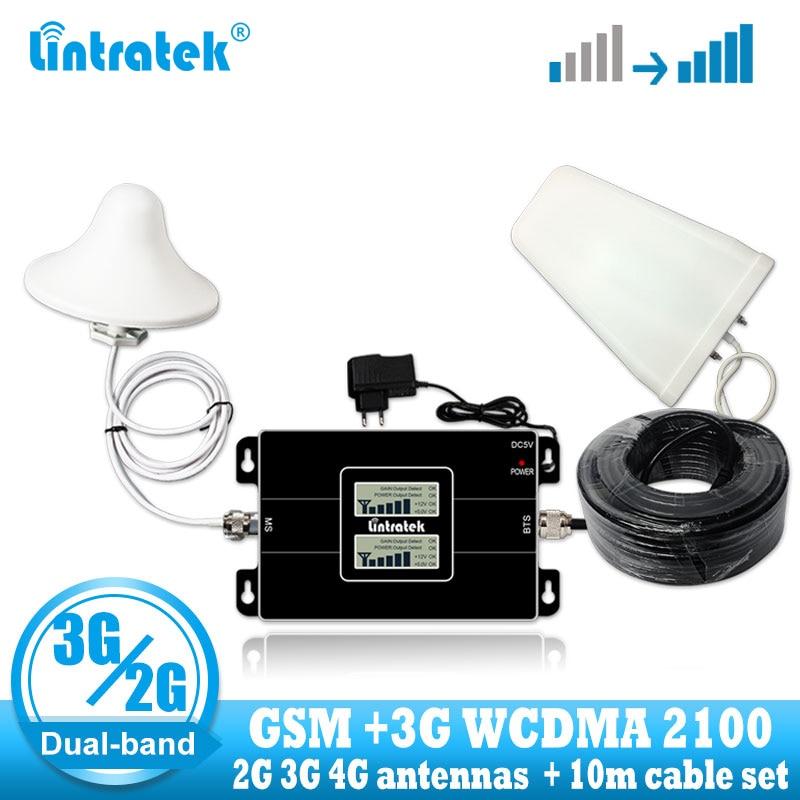 Lintratek rosja GSM 900/2100mhz Celular Bual band Cell inteligentny wwmacniacz sygnału telefonu WCDMA 3G GSM regenerator sygnału 3G wzmacniacz