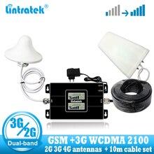 Lintratek 러시아 GSM 900/2100mhz Celular Bual 밴드 셀 스마트 폰 신호 부스터 WCDMA 3G GSM 신호 리피터 3G 앰프