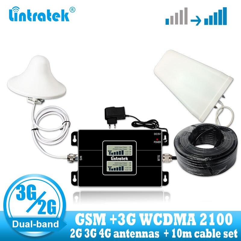 Lintratek Rússia GSM 900/2100mhz Celular banda Bual 3G Sinal GSM WCDMA Reforço de Sinal de Telefone Celular Inteligente 3G Amplificador repetidor