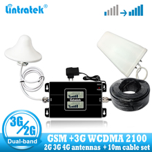 Lintratek Rusia GSM 900/2100 M Hz Celular Bual Band Sel Ponsel Pintar Penguat Sinyal WCDMA 3G GSM Sinyal repeater 3G Amplifier