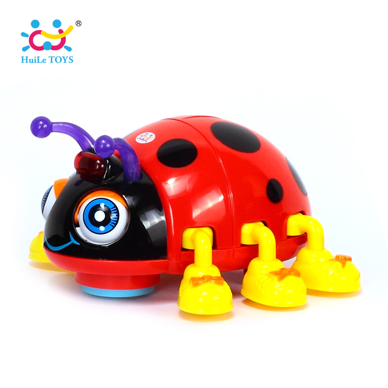 HUILE TOYS 82721D Baby Toy Cartoon Electric Ladybug Baby Learning Toy Crawl Educational Toys with Music & Light