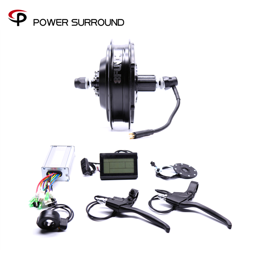 2018 Rushed 48v500w Bafang Cst Rear Cassette Electric Bike Conversion Kit Brushless Motor Wheel with EBike system