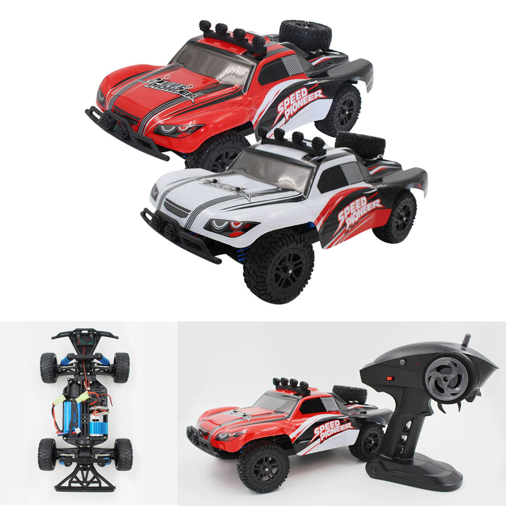 ФОТО Original RC Dirt Bike High Speed 9301-1 RC Car 1:18 2.4G 2wd Sandy Land Truck With light Remote Control Car